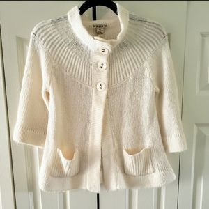 Forever21 Ivory A Line Swing Sweater Small